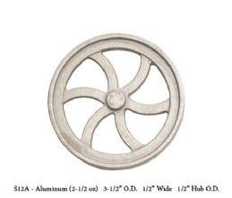 UNMACHINED FWC-S12A Aluminium  Flywheel Casting. 3 1/2 Dia  x 1/2 W x 1/2 Hub Dia